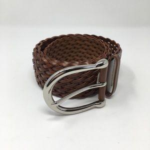 MICHAEL Michael Kors Woven Brown Belt Size M